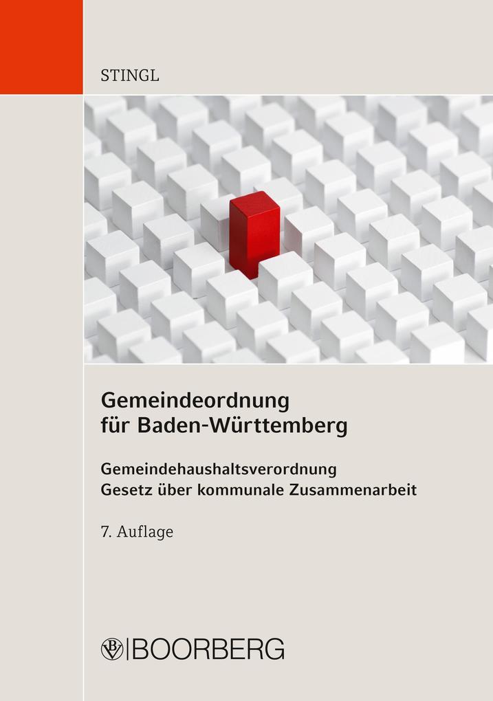 Gemeindeordnung für Baden-Württemberg als eBook...