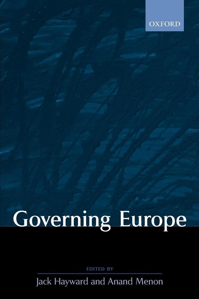 Governing Europe als Buch (kartoniert)