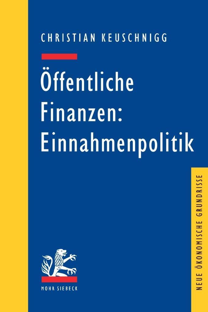 Öffentliche Finanzen: Einnahmenpolitik als Buch