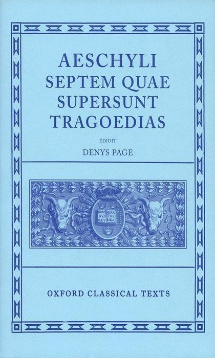Septem Quae Supersunt Tragoediae als Buch