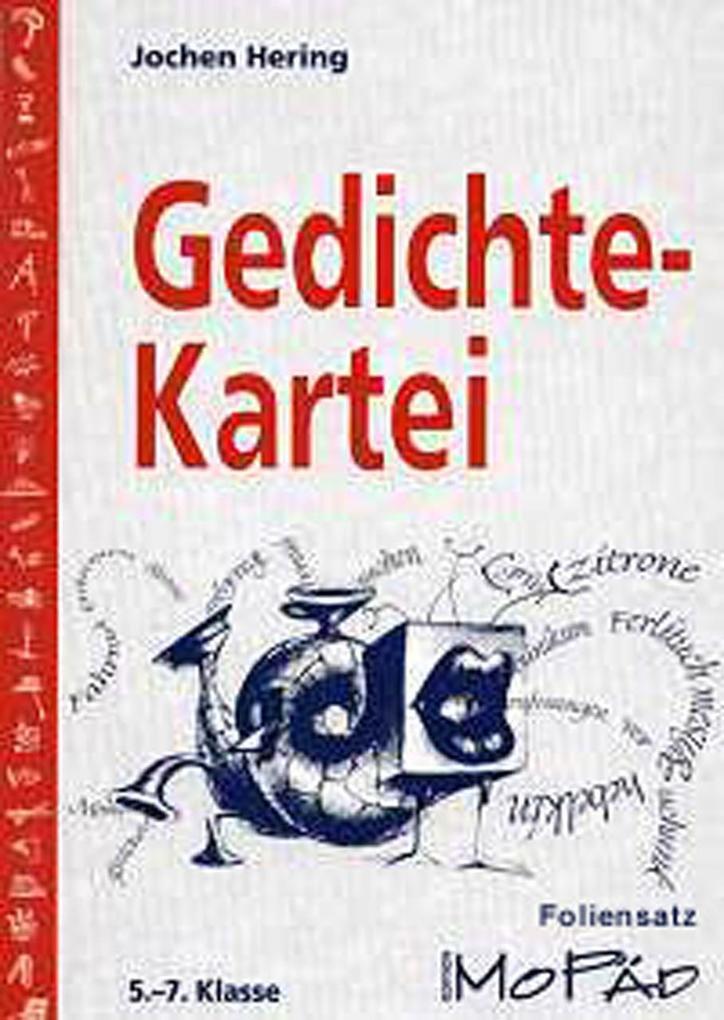 Gedichte-Kartei - Foliensatz als Buch