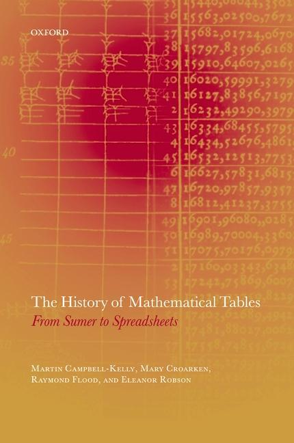 The History of Mathematical Tables: From Sumer to Spreadsheets als Buch