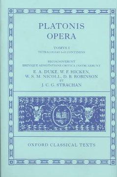 Opera: Volume I: Euthyphro, Apologia Socratis, Crito, Phaedo, Cratylus, Sophista, Politicus, Theaetetus als Buch (gebunden)