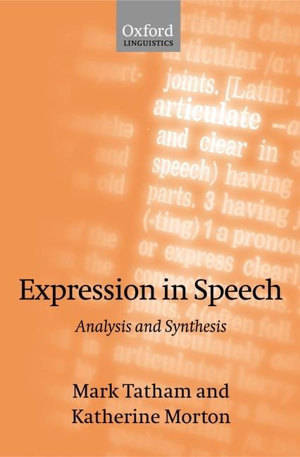 Expression in Speech: Analysis and Synthesis als Buch