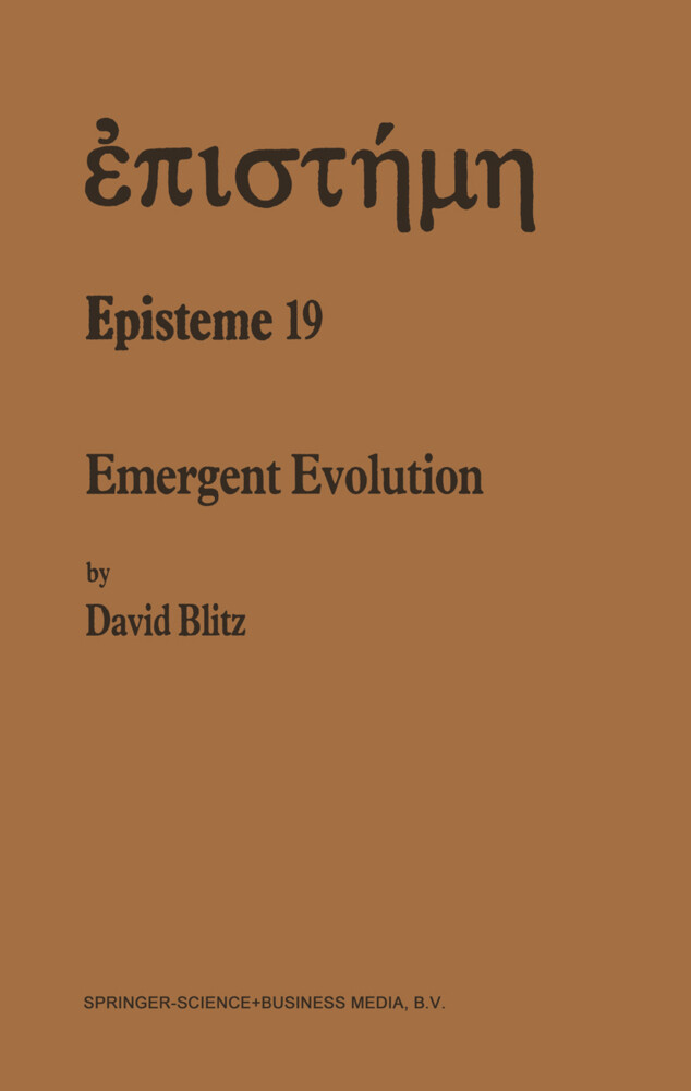 Emergent Evolution als Buch