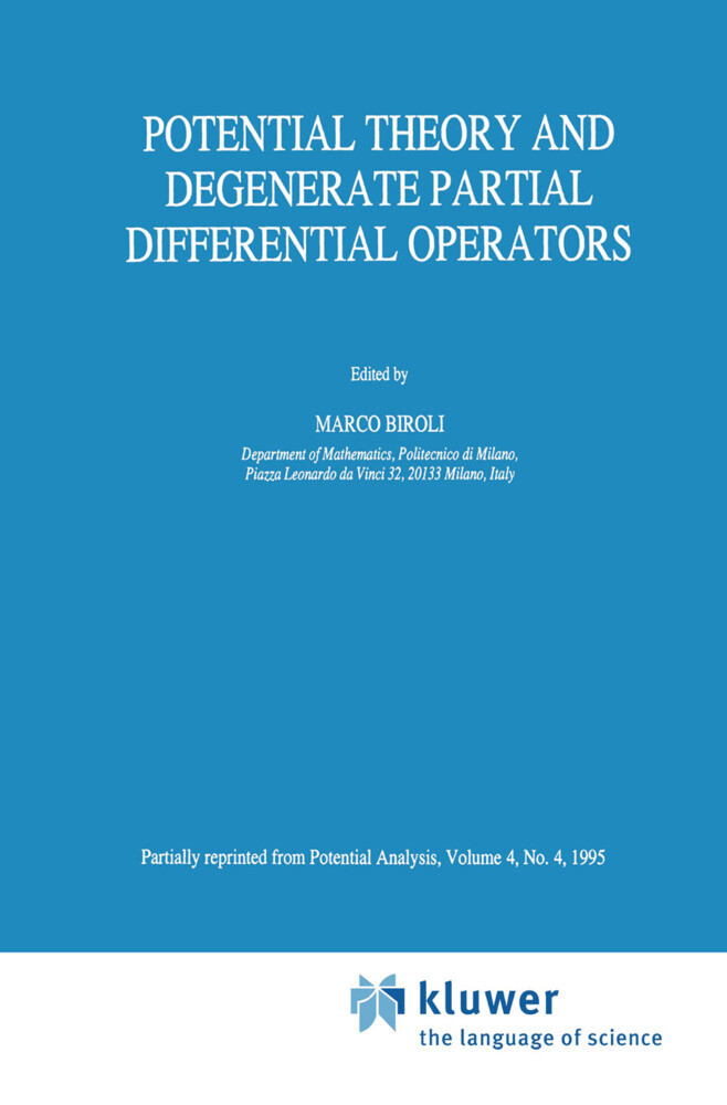 Potential Theory and Degenerate Partial Differential Operators als Buch