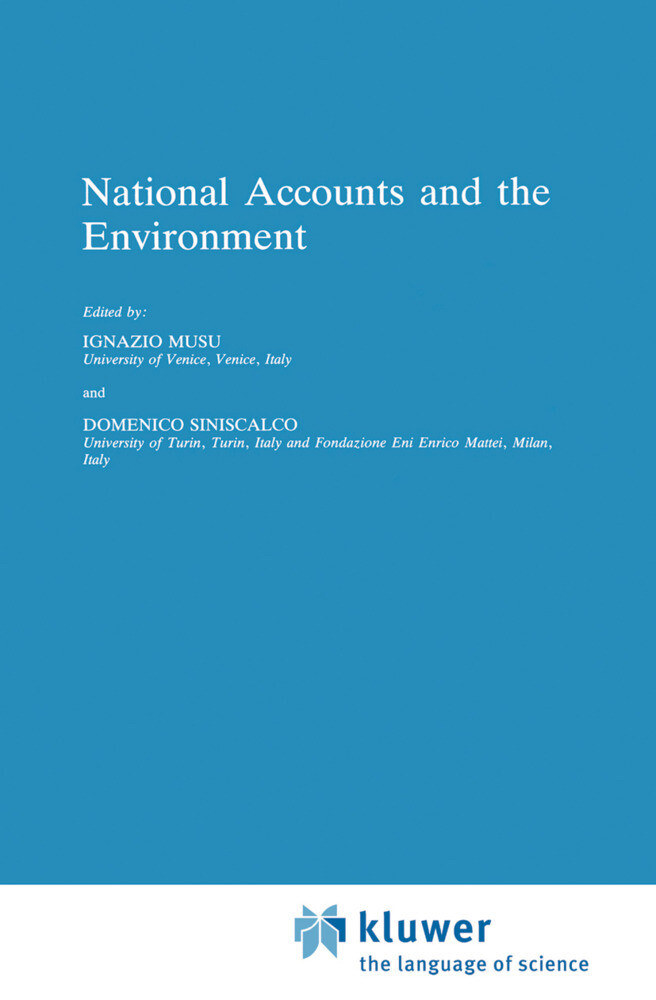National Accounts and the Environment als Buch