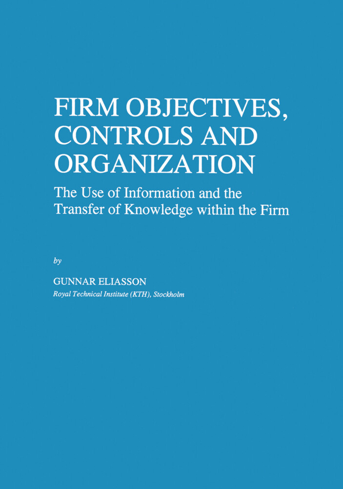 Firm Objectives, Controls and Organization als Buch