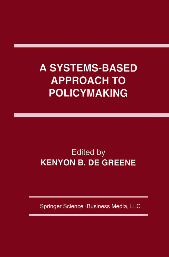 A Systems-Based Approach to Policymaking als Buch