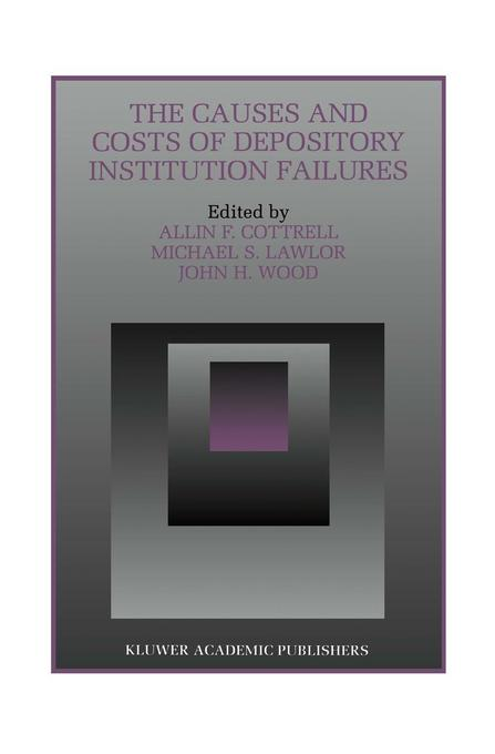 The Causes and Costs of Depository Institution Failures als Taschenbuch