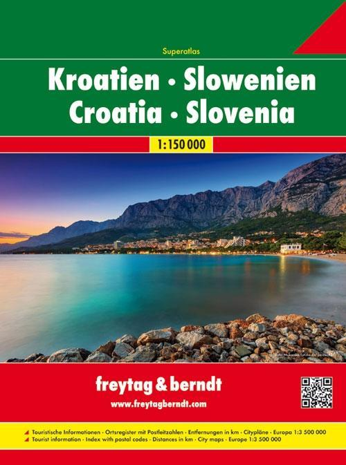 Kroatien / Slowenien 1 : 150 000. Superatlas als Buch (kartoniert)