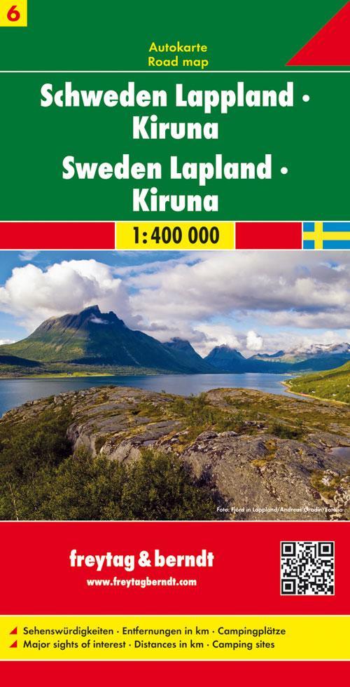 FuB Schweden 06 Lappland / Kiruna 1 : 400 000. Autokarte als Blätter und Karten