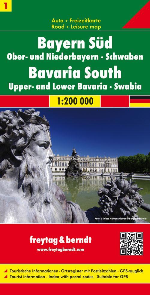 Deutschland 01 Bayern 1. Süd, Mitte 1 : 200 000...