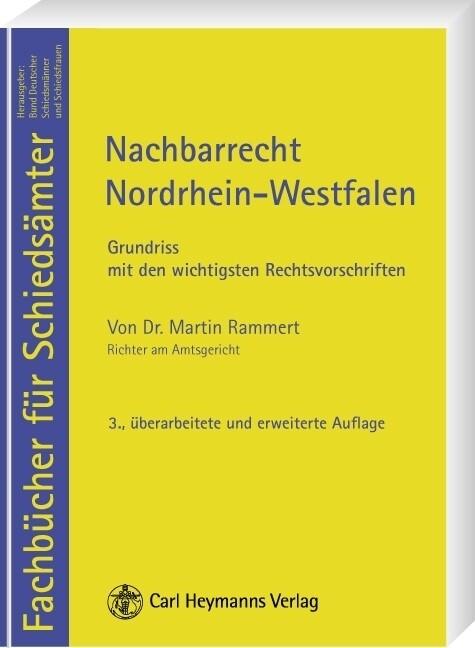 Nachbarrecht Nordrhein-Westfalen als Buch