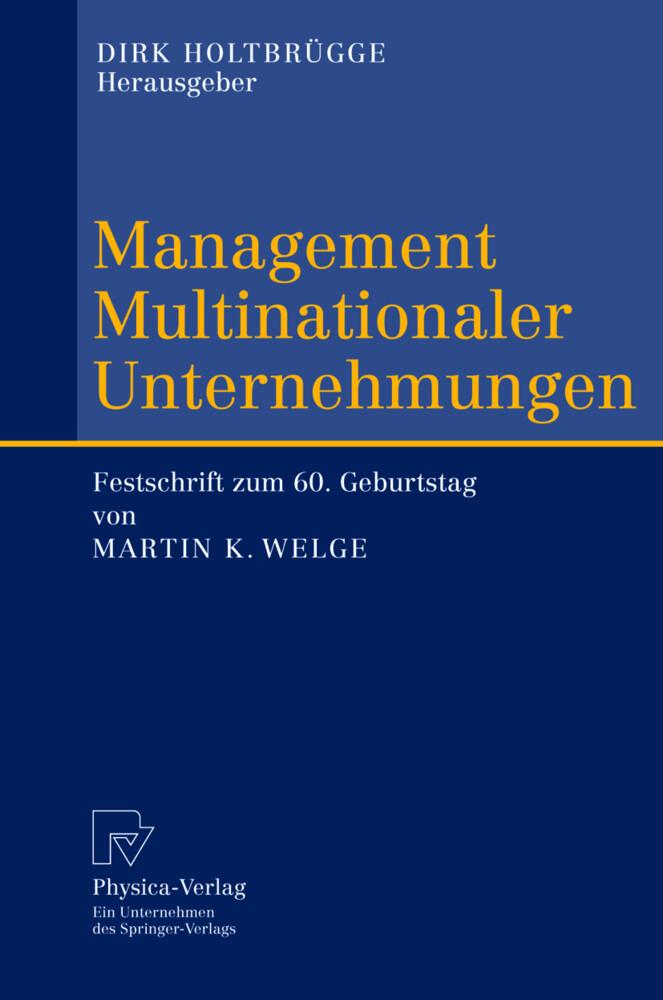 Management Multinationaler Unternehmungen als Buch