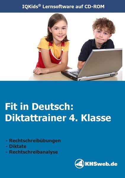Fit in Deutsch: Diktattrainer. 4. Klasse. CD-ROM für Windows 95/98/NT/ME/2000/XP als Software