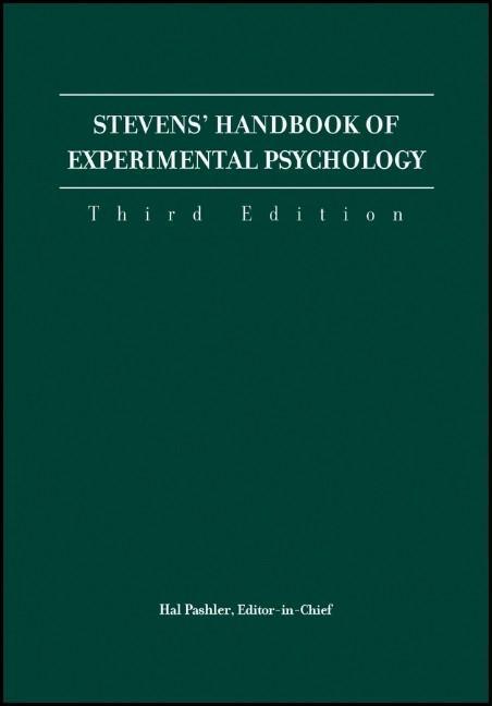 Stevens' Handbook of Experimental Psychology,, 4 Volume Set als Buch