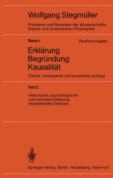 Historische, psychologische und rationale Erklärung Verstehendes Erklären als Buch