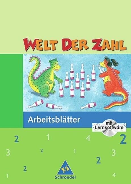 Welt der Zahl 2. Arbeitsblätter mit CD-ROM. Für Hessen, Rheinland-Pfalz, Saarland als Buch