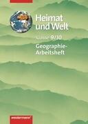 Heimat und Welt 9/10. Arbeitsheft. Für Mecklenburg-Vorpommern. Ausgabe 1999