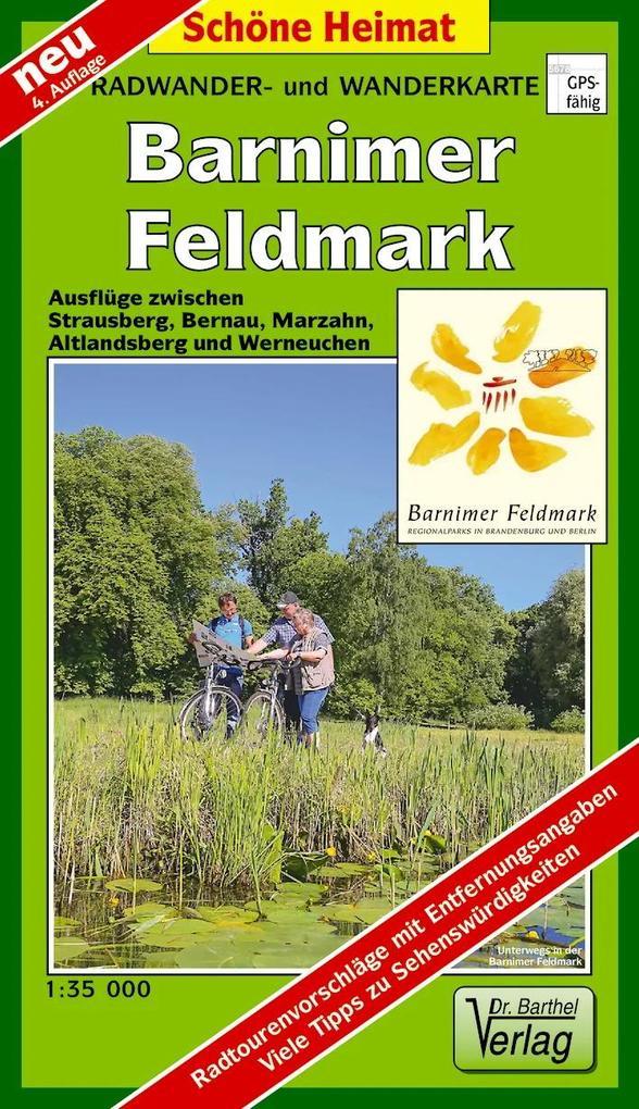 Barnimer Feldmark 1 : 35 000. Radwander- und Wanderkarte als Buch