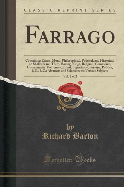 Farrago, Vol. 2 of 2 als Taschenbuch von Richar...