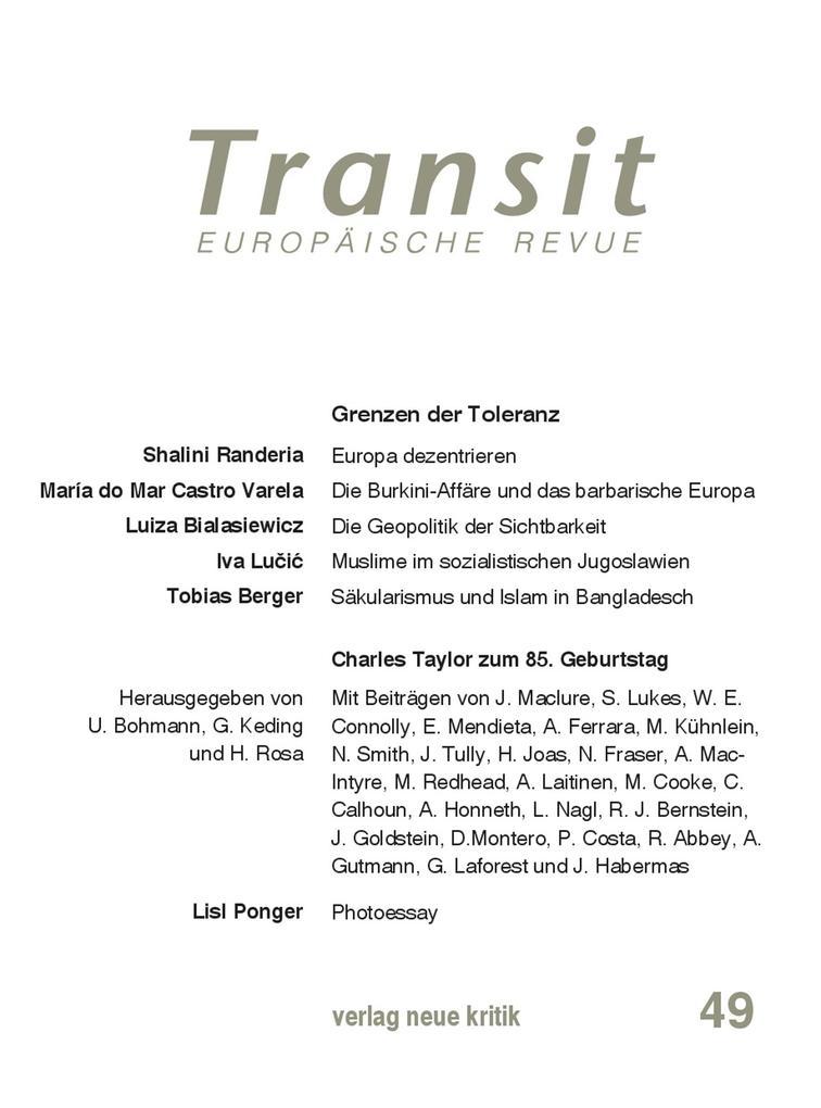 Transit 49. Europäische Revue als eBook Downloa...