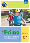 Primo.Verkehrserziehung 3 / 4. Arbeitsheft. Die Radfahrausbildung