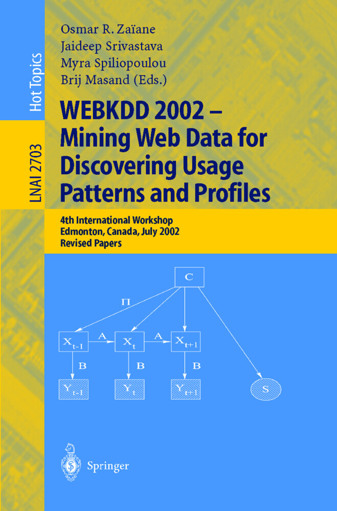 WEBKDD 2002 - Mining Web Data for Discovering Usage Patterns and Profiles als Buch
