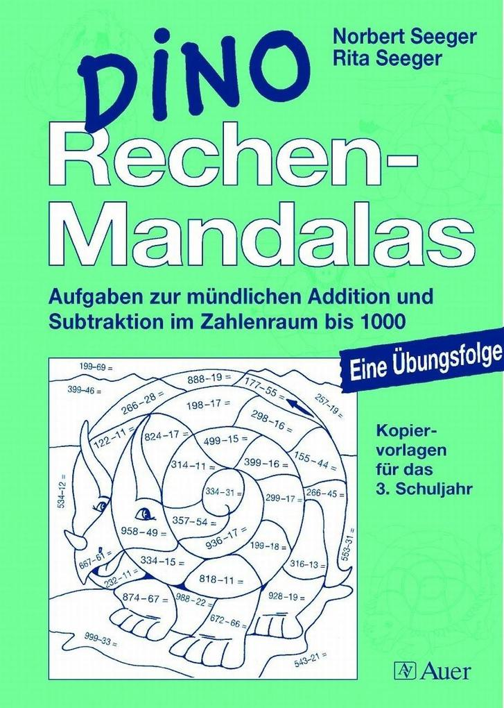 DINO Rechen-Mandalas. 3. Schuljahr als Buch