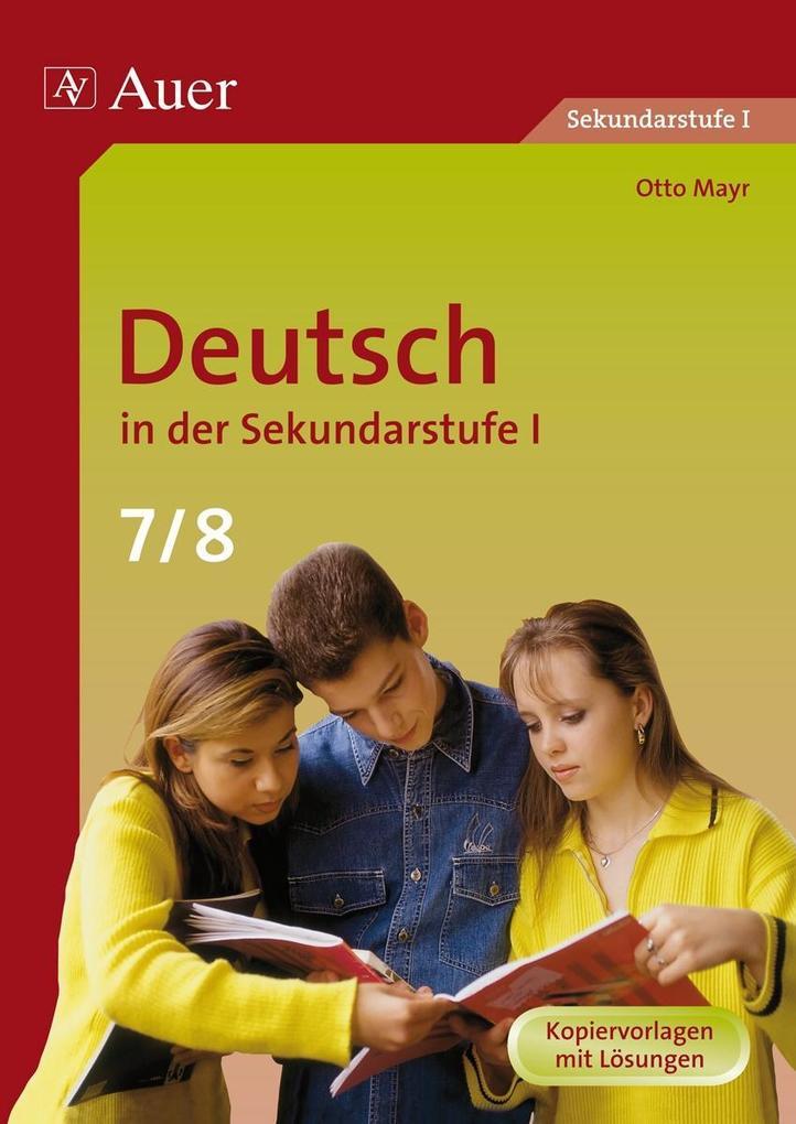 Deutsch in der Sekundarstufe 1. 7./8. Jahrgangsstufe als Buch