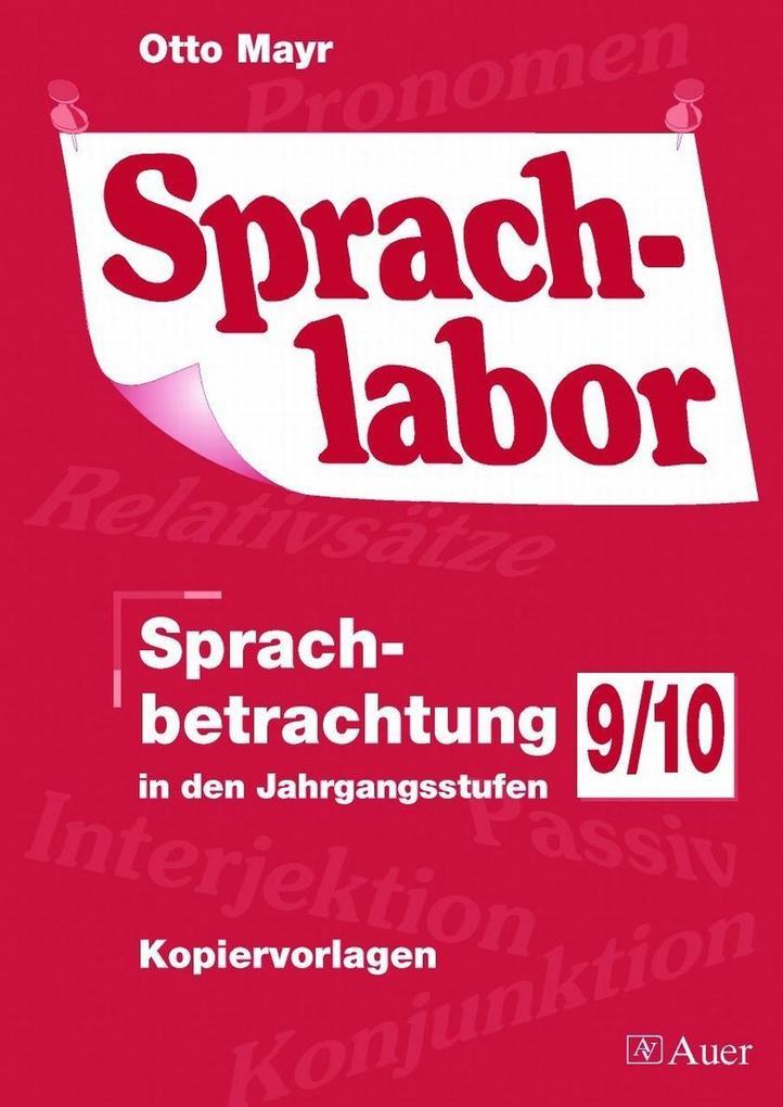 Sprachlabor 9/10 als Buch