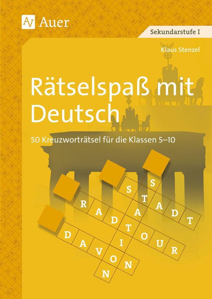 Rätselspaß mit Deutsch als Buch