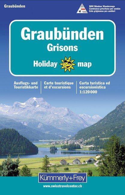 KuF Graubünden 1 : 120 000. Holiday Map als Buch