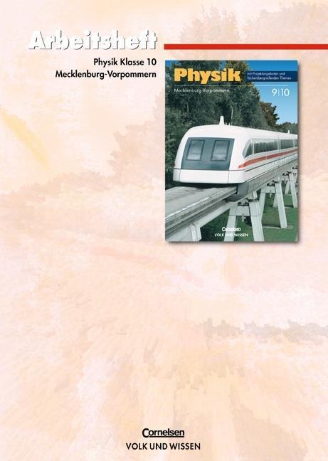 Physik 10. Schuljahr. Arbeitsheft. Regionale Schule Mecklenburg-Vorpommern als Buch