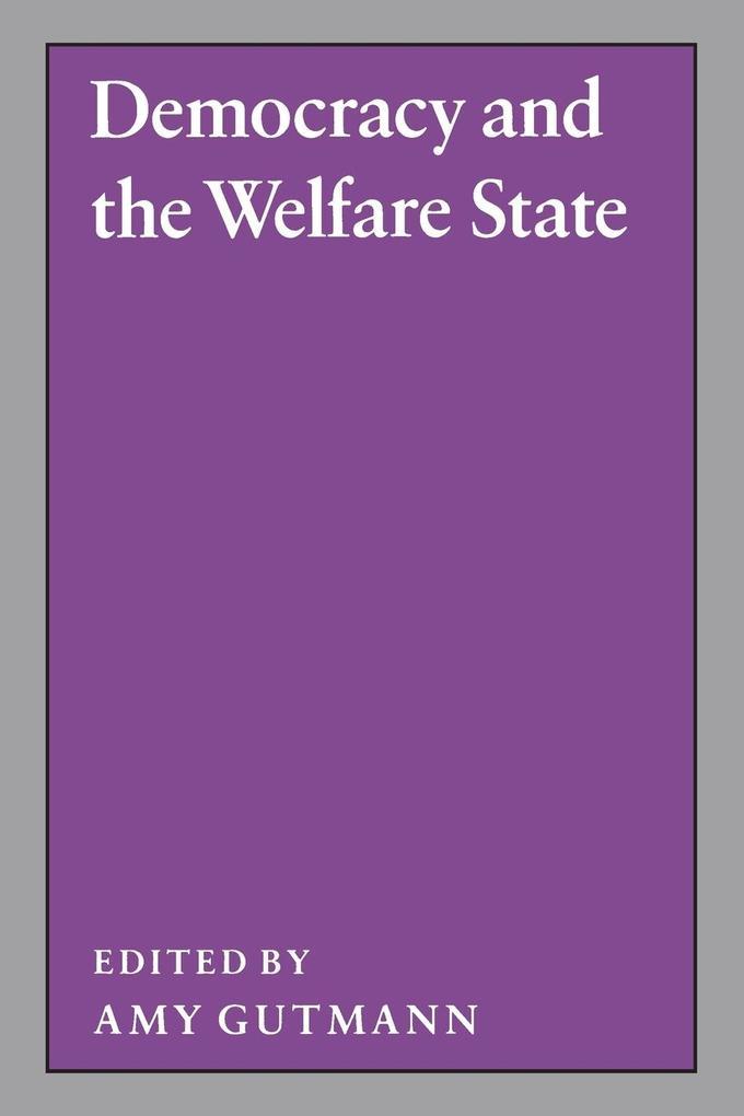 Democracy and the Welfare State als Taschenbuch