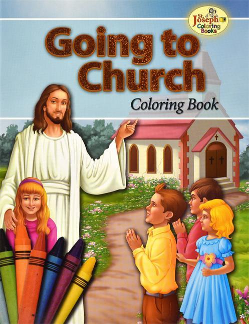 Going to Church Coloring Book als Taschenbuch