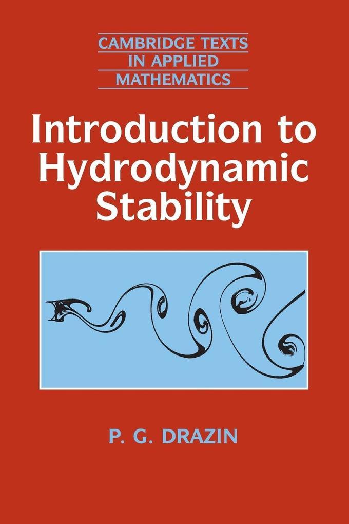 Introduction to Hydrodynamic Stability als Buch