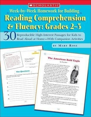 Week-By-Week Homework for Building Reading Comprehension & Fluency: Grades 2-3: 30 Reproducible High-Interest Passages for Kids to Read Aloud at Home- als Taschenbuch