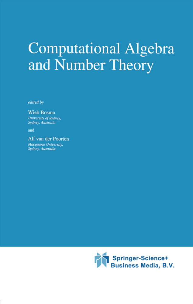 Computational Algebra and Number Theory als Buch