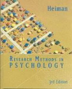 Research Methods in Psychology als Buch