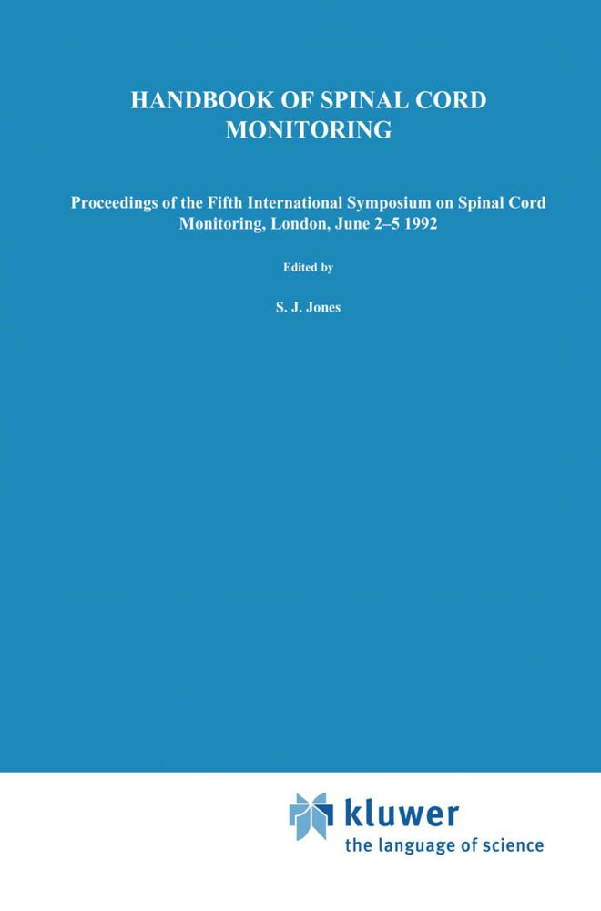 Handbook of Spinal Cord Monitoring als Buch