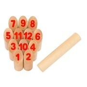 Goki 56853 - Wikingerspiel Number Kubb, im Baumwollbeutel