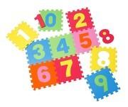 knorr toys - Puzzlematte - Zahlen, 10 tlg., 30cm