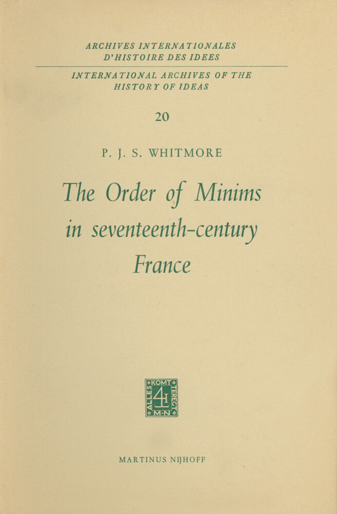 The Order of Minims in Seventeenth-Century France als Buch