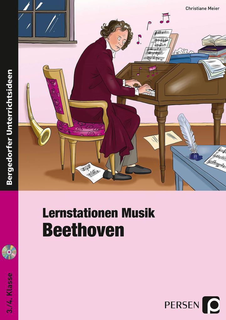 Lernstationen Musik: Beethoven als Buch von Chr...