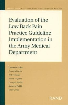 Evaluation of the Low Back Pain Practice Guideline Implementation in the Army Medical Department als Taschenbuch