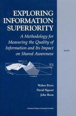 Exploring the Information Superiority: A Methodology for Measuring the Qualtiy of Information and Its Impact on Shared Awareness als Taschenbuch