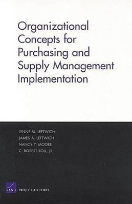 Organizational Concepts for Purchasing and Supply Management Implemantation als Taschenbuch