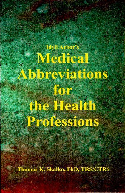 Idyll Arbors Medical Abbreviat als Taschenbuch